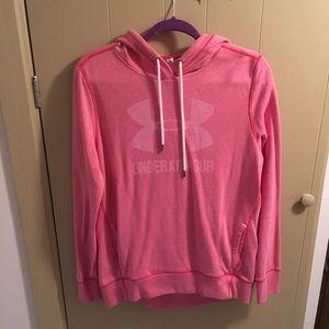 Pink Under Armour Hooded Sweatshirt